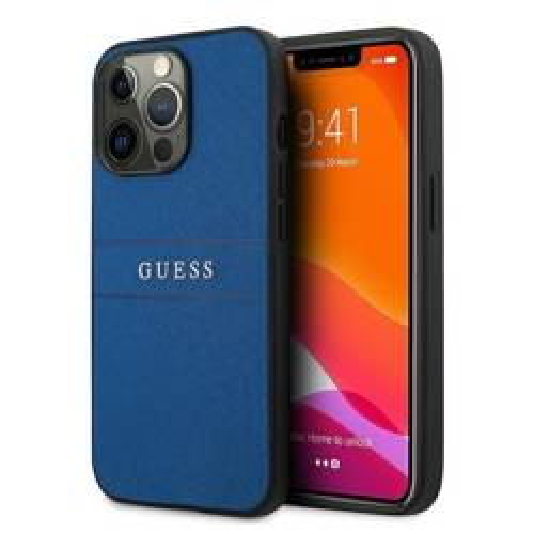 "Guess GUHCP13XPSASBBL iPhone 13 Pro Max 6.7"" blue/blue Saffiano Strap"