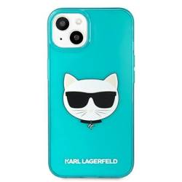 "Karl Lagerfeld KLHCP13MCHTRB iPhone 13 6.1"" blue/blue hardcase Glitter Choupette Fluo"
