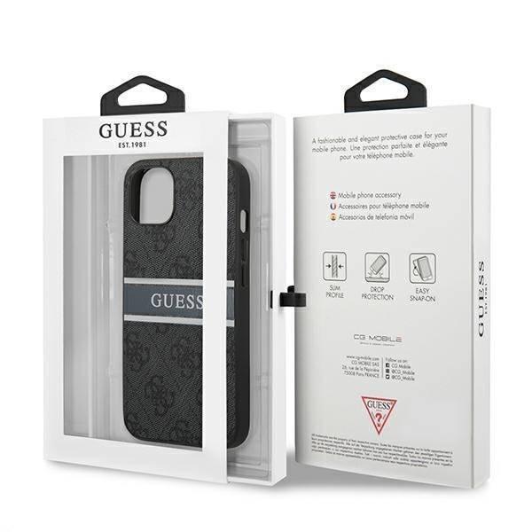 GUESS Apple iPhone 13 4G Streifen grau Hardcase
