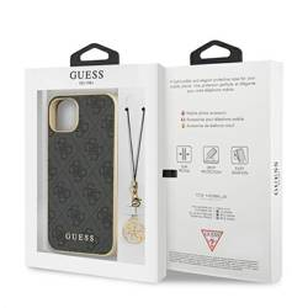 GUESS Apple iPhone 13 Mini 4G Charms Sammlung grau Hardcase