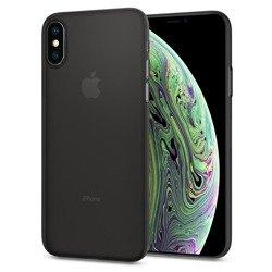 Hülle SPIGEN Airskin Apple iPhone X Xs Schwarz + Glas SPIGEN