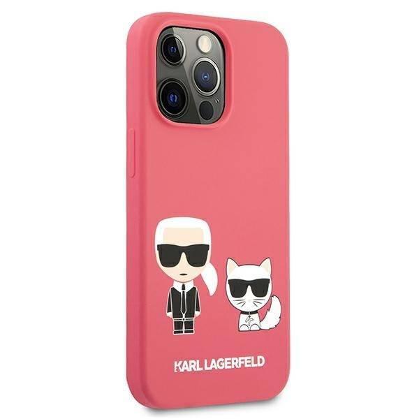 "Karl Lagerfeld KLHCP13LSSKCP iPhone 13 Pro / 13 6.1"" Hartschale rosa/rosa Silikon Karl & Choupette"
