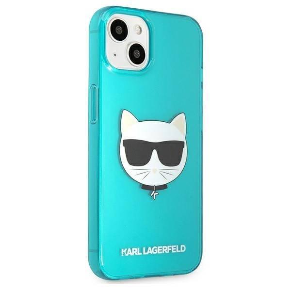 """Karl Lagerfeld KLHCP13MCHTRB iPhone 13 6.1"""" blau/blau HartschalenHülle Glitter Choupette Fluo"""