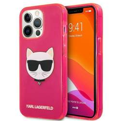 """Karl Lagerfeld KLHCP13XCHTRP iPhone 13 Pro Max 6,7"""" rosa/rosa HartschalenHülle Glitter Choupette Fluo"""