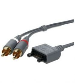 SONY ERICSSON MMC-60 Audiokabel Original 2x RCA Chinch Fast Port