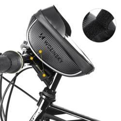 [PO ZWROCIE] Wozinsky Torba rowerowa na kierownicę pokrowiec na telefon 1L czarny (WBB16BK)