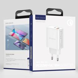 Dux Ducis Travel Charger C70-Dual Port / PD 20W + QC 18W EU White
