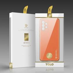 Dux Ducis Yolo eleganckie etui pokrowiec ze skóry ekologicznej Samsung Galaxy A52 5G / A52 4G pomarańczowy