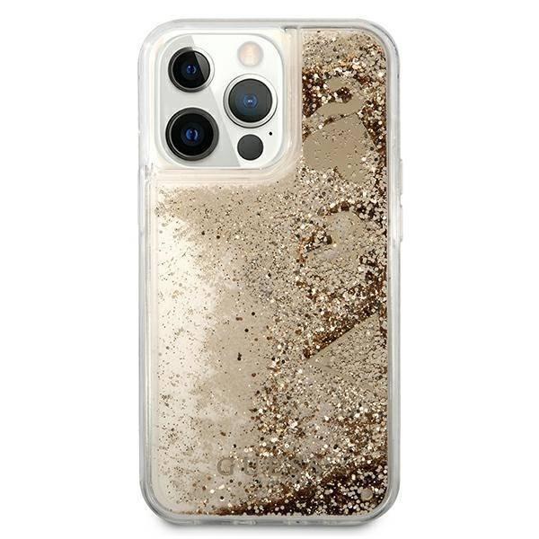 Etui GUESS Apple iPhone 13 13 Pro Glitter Charms Złoty Hardcase