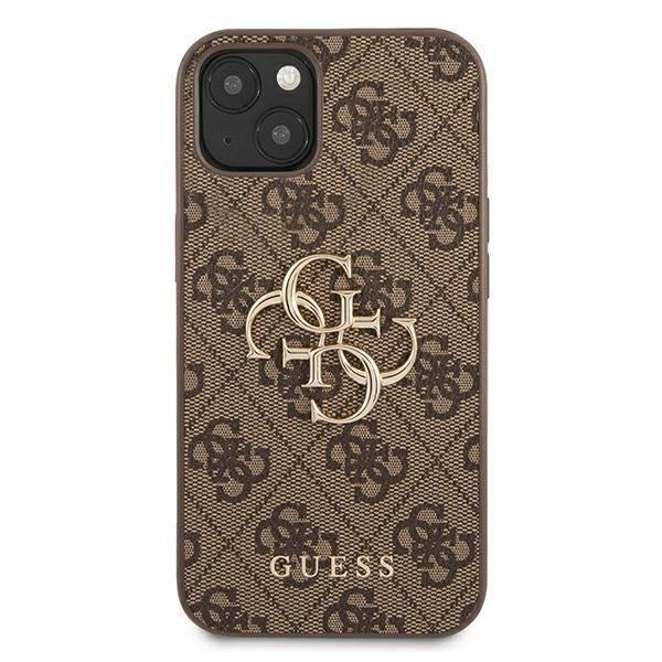 Etui GUESS Apple iPhone 13 Mini 4G Big Metal Logo Brązowy Hardcase