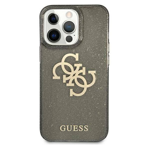 Etui GUESS Apple iPhone 13 Pro Glitter 4G Big Logo Czarny Hardcase