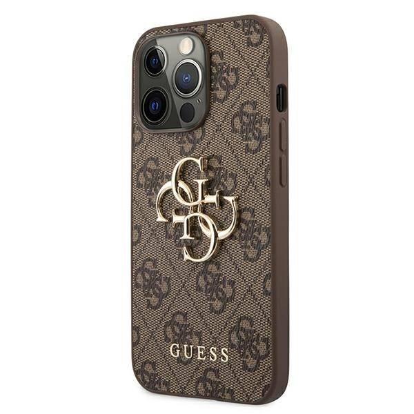 Etui GUESS Apple iPhone 13 Pro Max 4G Big Metal Logo Brązowy Hardcase