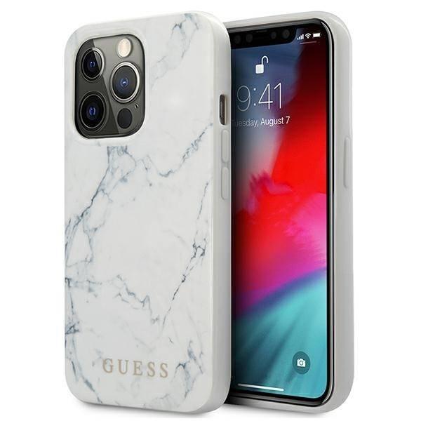 Etui GUESS Apple iPhone 13 Pro Max Marble Biały Hardcase
