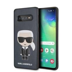 Etui Karl Lagerfeld KLHCS10IKPUBL Samsung Galaxy S10 G973 hardcase granatowy/navy Iconic Karl Embossed