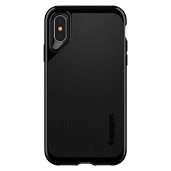 Etui Pokrowiec SPIGEN NEO Hybrid Apple iPhone X JET Black + Szkło SPIGEN Full Cover
