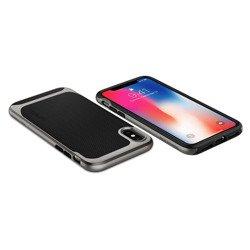 Etui Pokrowiec SPIGEN Neo Hybrid Apple Iphone X Gunmetal Szare Case + Szkło SPIGEN