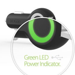 Ładowarka Samochodowa USB IOTTIE Mocna 2xUSB 5A 25W LED