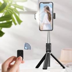 Proda  selfie Stick with light PD-P70S-1 black