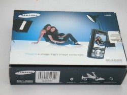Pudełko SAMSUNG G600 Blue CD, Kabel