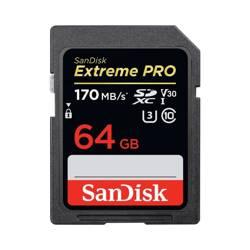SANDISK KARTA EXTREME PRO SDXC 64 GB 170/90 MB/s V30 UHS-I U3