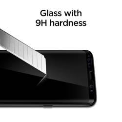 Szkło HARTOWANE SPIGEN GLAS.TR CASE FRIENDLY SAMSUNG GALAXY S8+ PLUS BLACK CZARNE