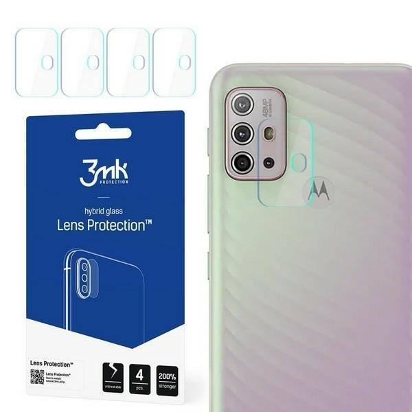 Szkło Hybrydowe 3MK Motorola Moto G10 Lens Protect Ochrona Na Obiektyw Aparatu 4szt Glass