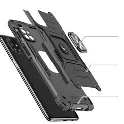 Wozinsky Ring Armor pancerne hybrydowe etui pokrowiec + magnetyczny uchwyt Samsung Galaxy M31s czarny